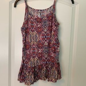 Cute patterned blouse tank